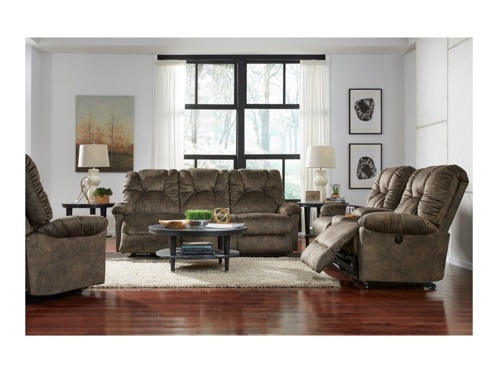 Best Home Furnishings RomulusRocking Reclining Loveseat with Console