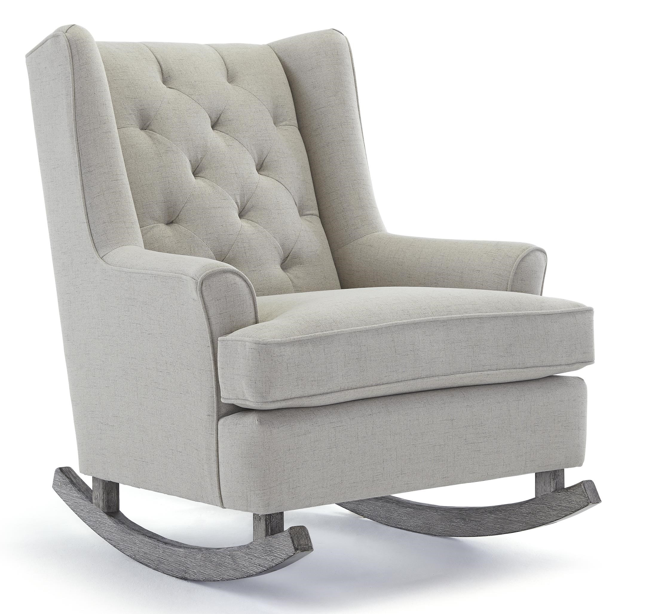 Delightful Best Home Furnishings Runner Rockers Paisley Button Tufted Rocking Chair  With Wood Runners