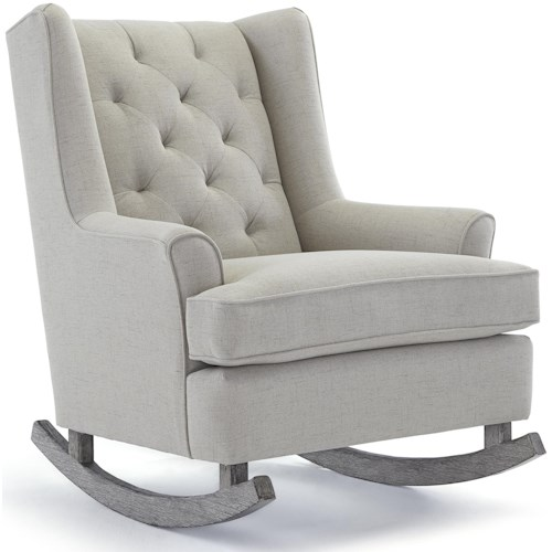 Best Home Furnishings Runner Rockers Paisley On Tufted Rocking Chair With Wood Runners