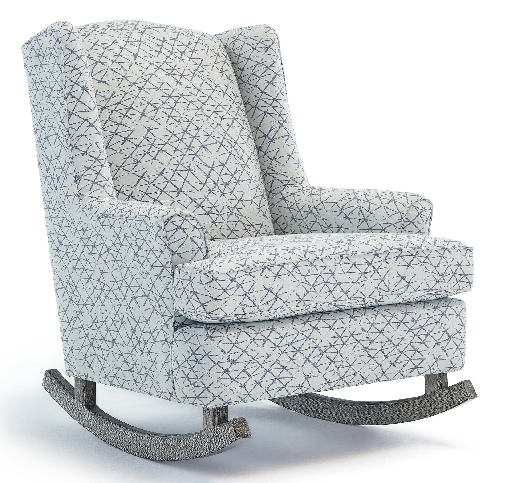 Superbe Best Home Furnishings Runner Rockers Willow Upholstered Rocking Chair With  Wood Runners