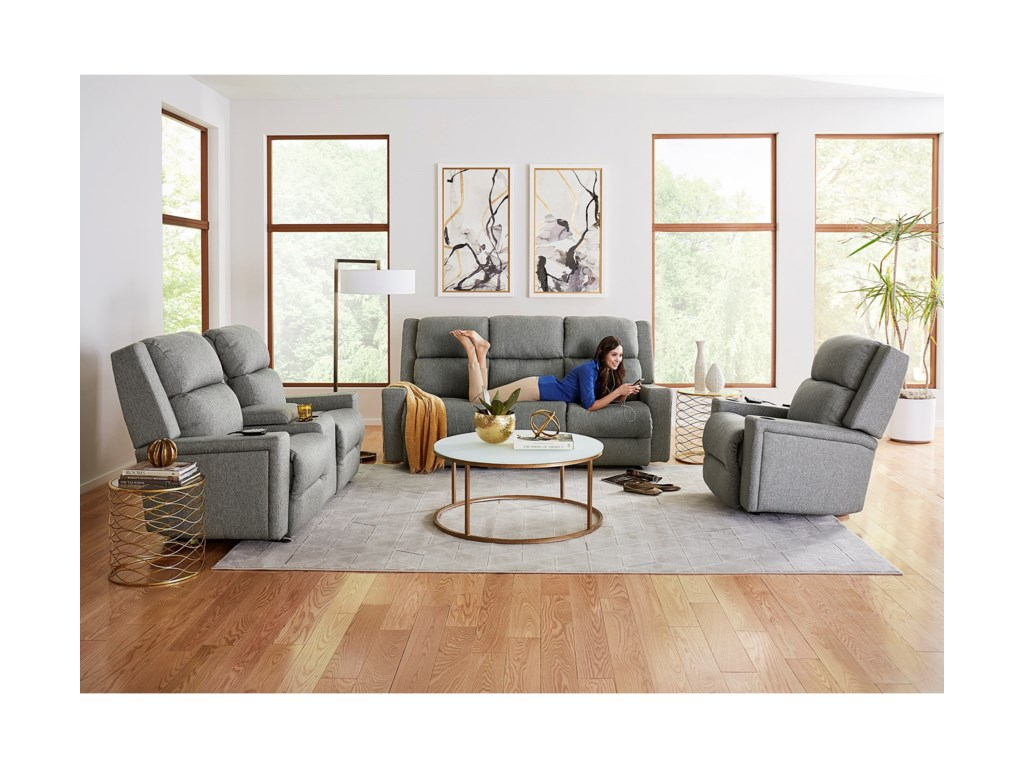 Best Home Furnishings RynnePwr Tilt Head/Lumbar Reclining Love w/ Consl
