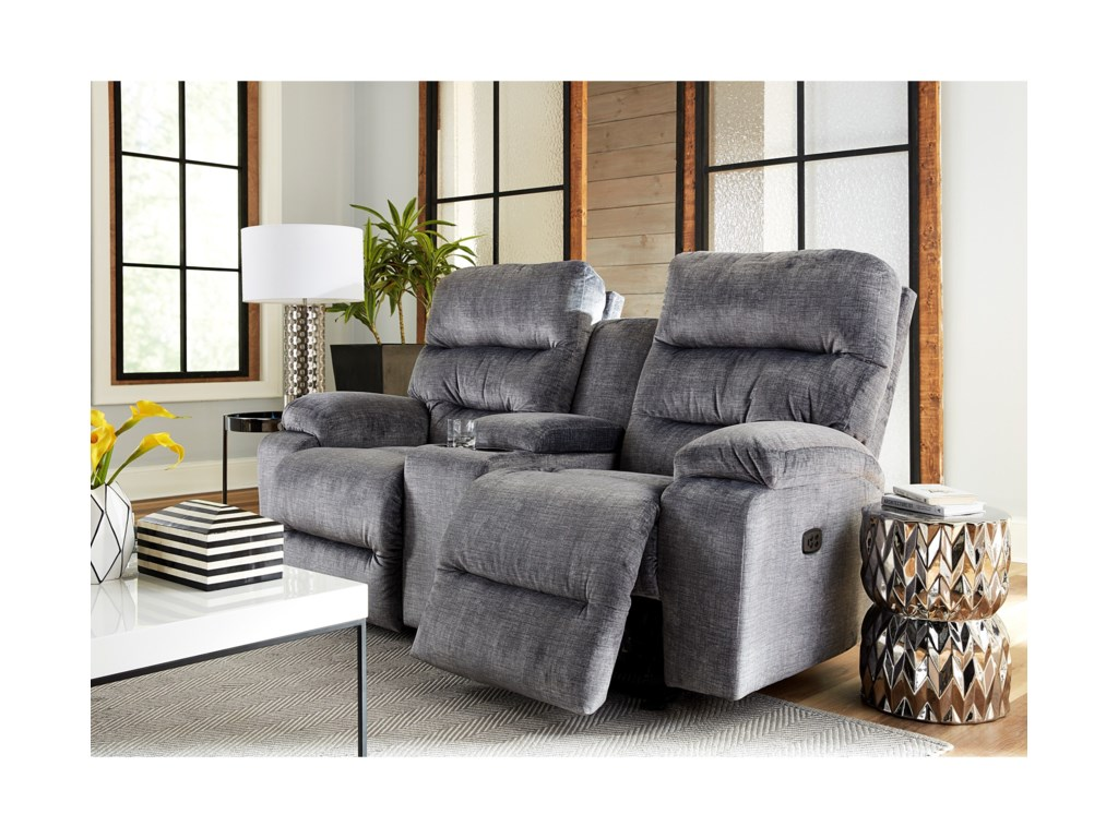 Best Home Furnishings RysonPower Space Saver Reclining Console Loveseat