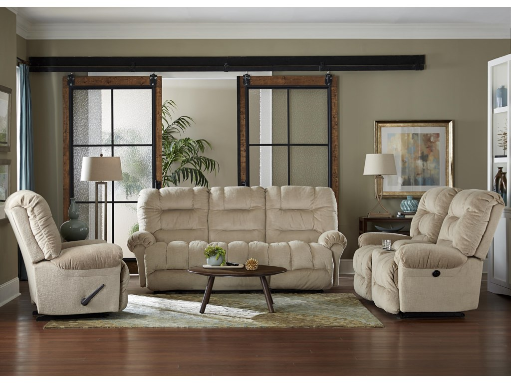 Best Home Furnishings SegerRocking Reclining Loveseat w/ Console