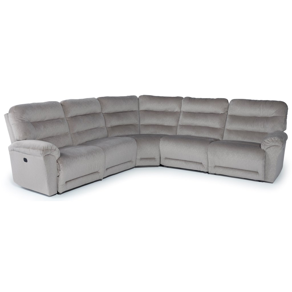 Best Home Furnishings Shelby Five Piece Reclining Sectional Sofa  ~ Five Piece Sectional Sofa