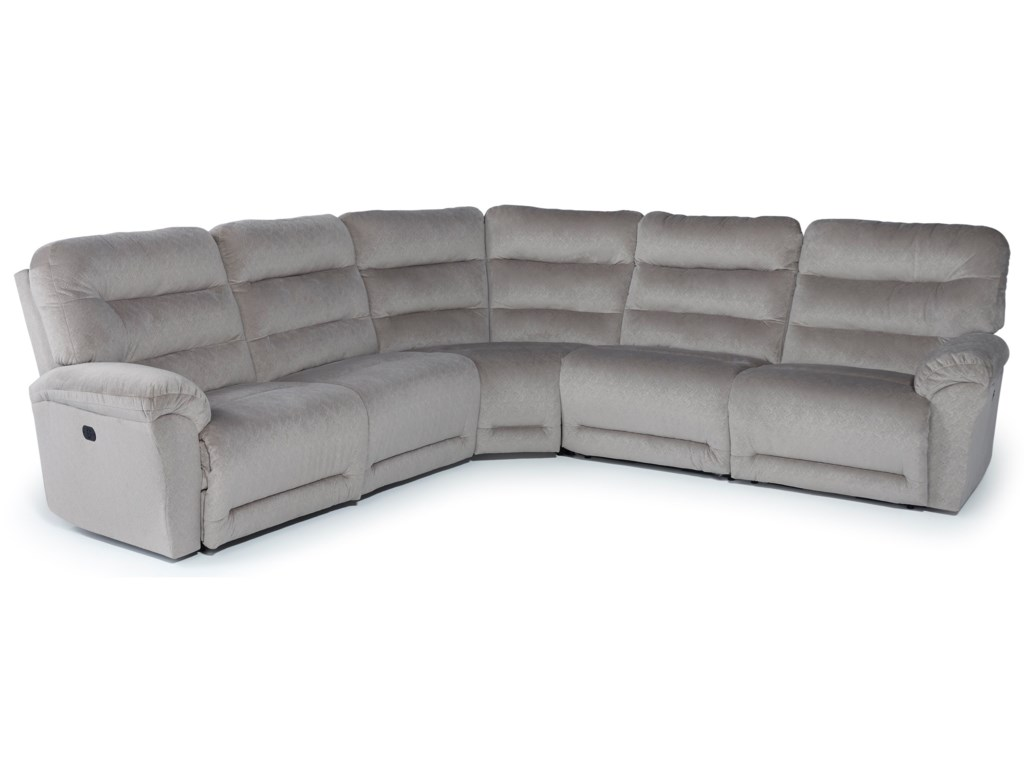 Best Home Furnishings Shelby5 Pc Pwr Reclining Sectional w/ Pwr Head