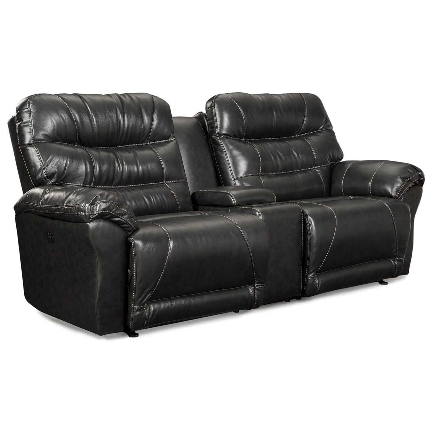 Best Home Furnishings ShelbySpace Saver Reclining Sofa W/ Console ...
