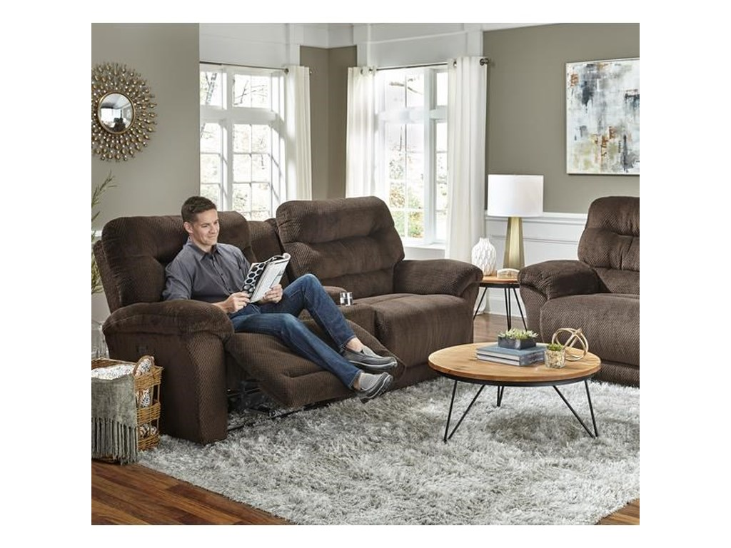 Best Home Furnishings ShelbySpace Saver Reclining Sofa w/ Console
