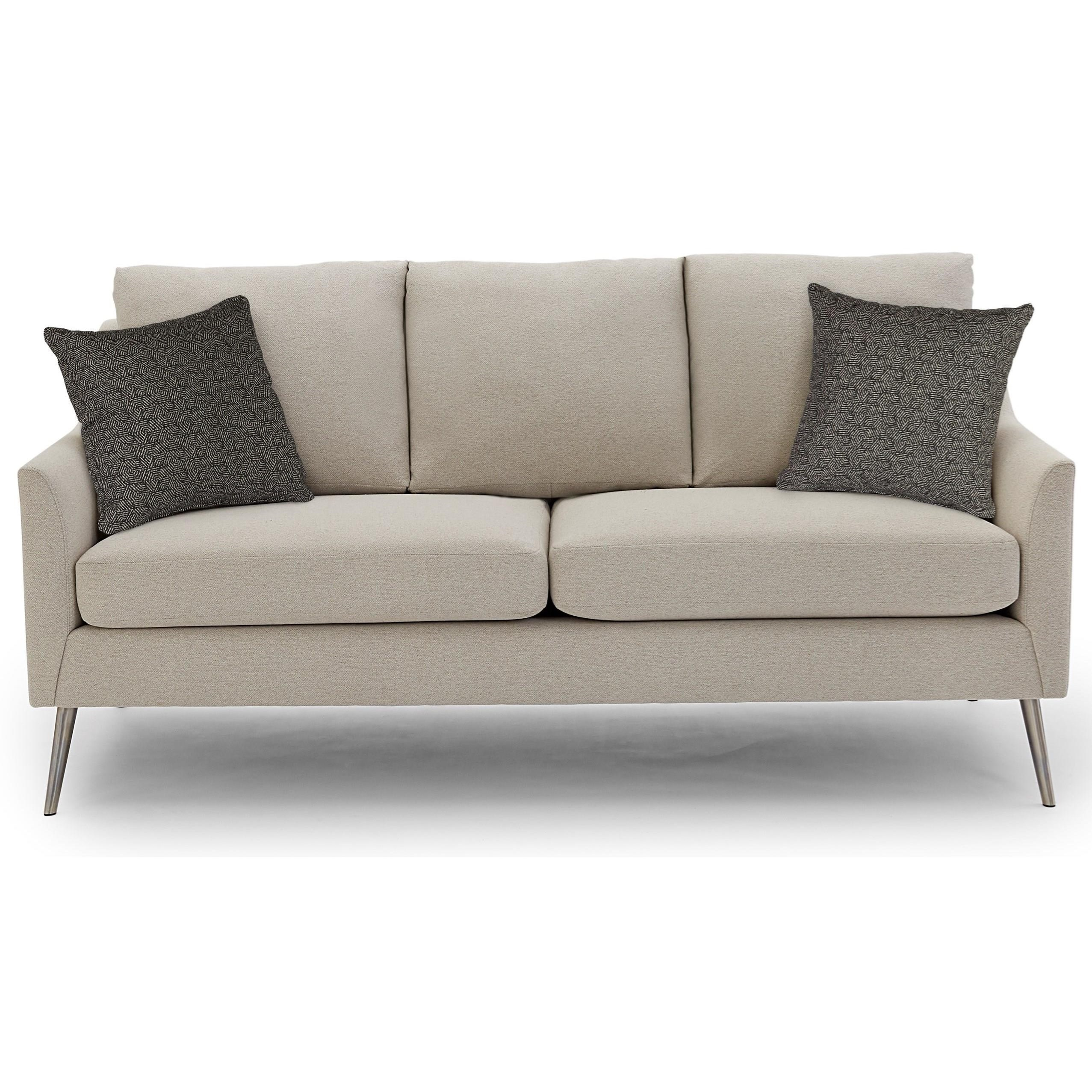 Mid-Century Modern Sofa With Reversible Seat Cushions