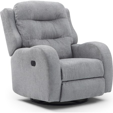 Power Tilt Headrest Swivel Glider Recliner