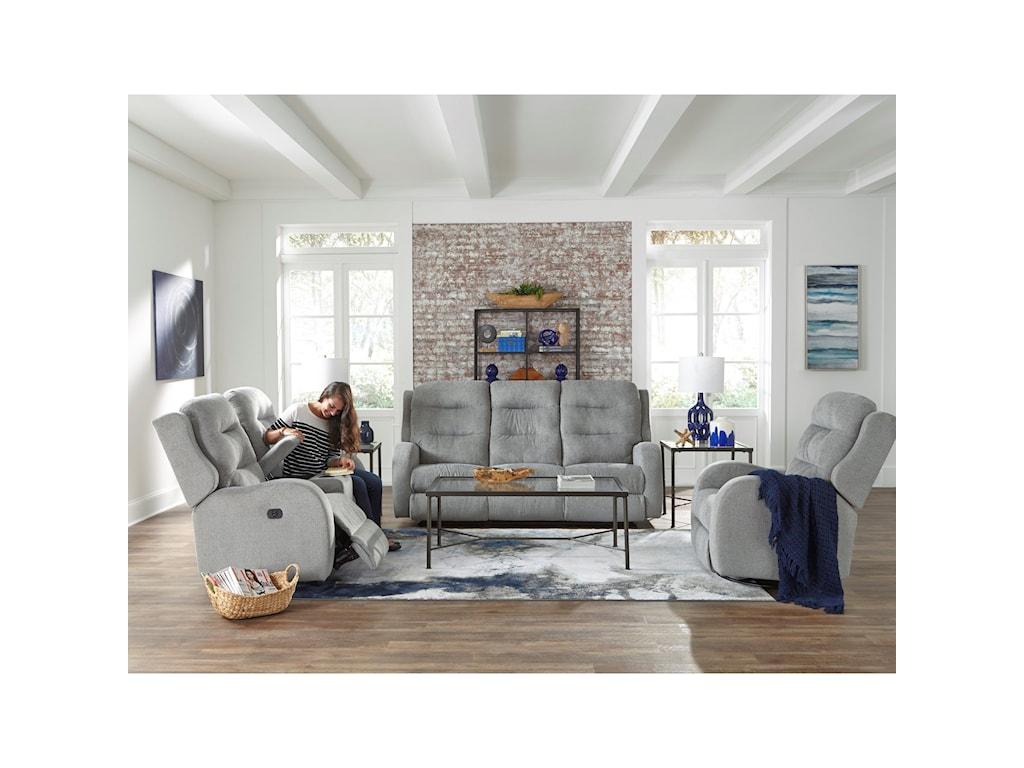 Best Home Furnishings StratmanSpace Saving Reclining Sofa