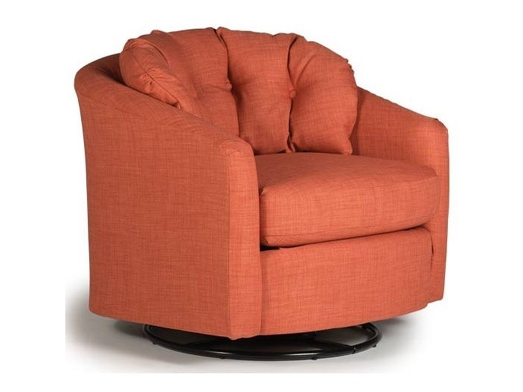 Best Home Furnishings SanyaSwivel Barrel Chair