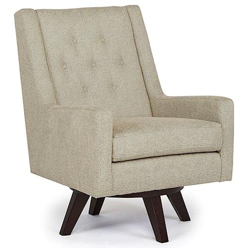 Best Home Furnishings Chairs - Swivel Barrel Kale Swivel Chair