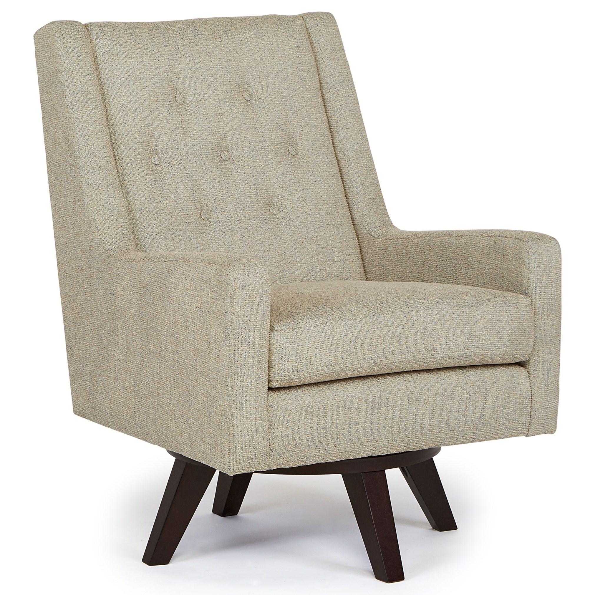 Best Home Furnishings Chairs   Swivel Barrel Kale Swivel Chair