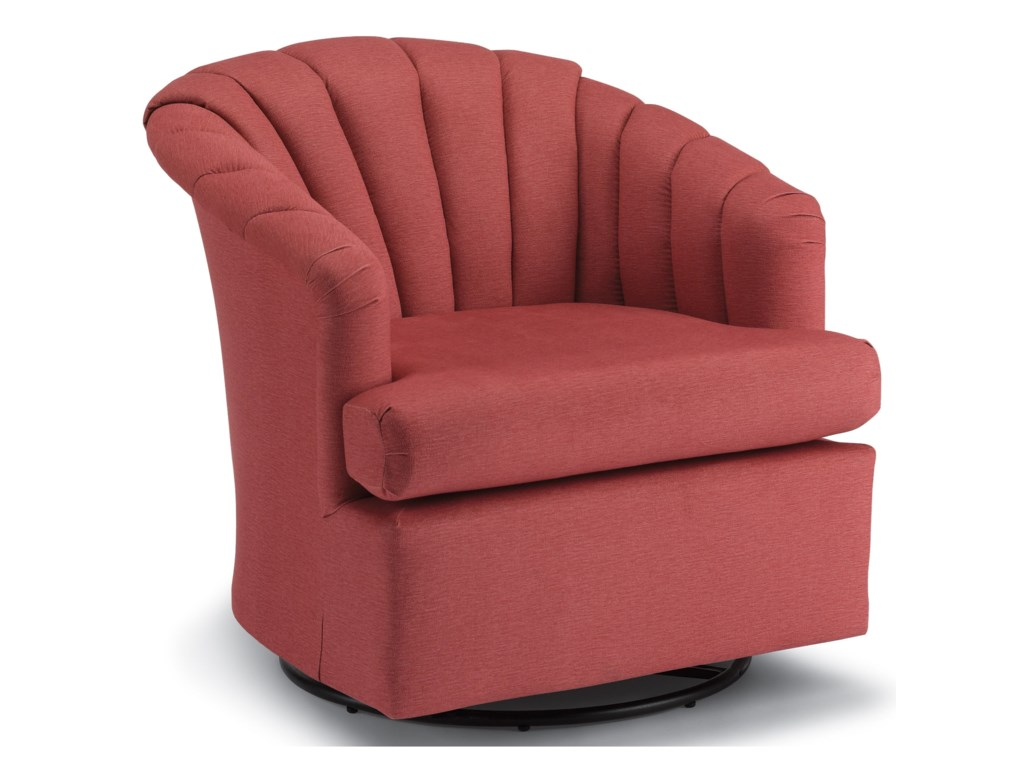 Best Home Furnishings Chairs - Swivel BarrelElaine Swivel Glider Chair