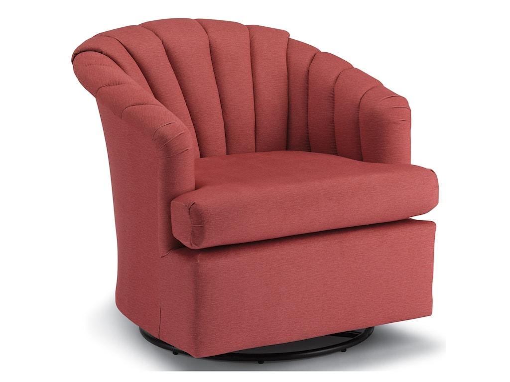 Best Home Furnishings Chairs - Swivel BarrelElaine Swivel Glider Chair