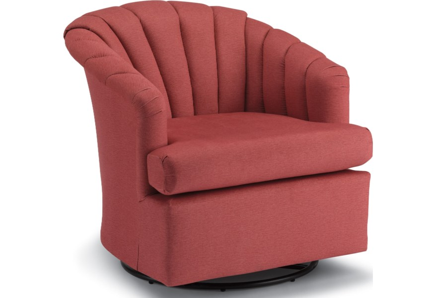 low priced 08762 4a33c Best Home Furnishings Chairs - Swivel Barrel 2557 Elaine ...