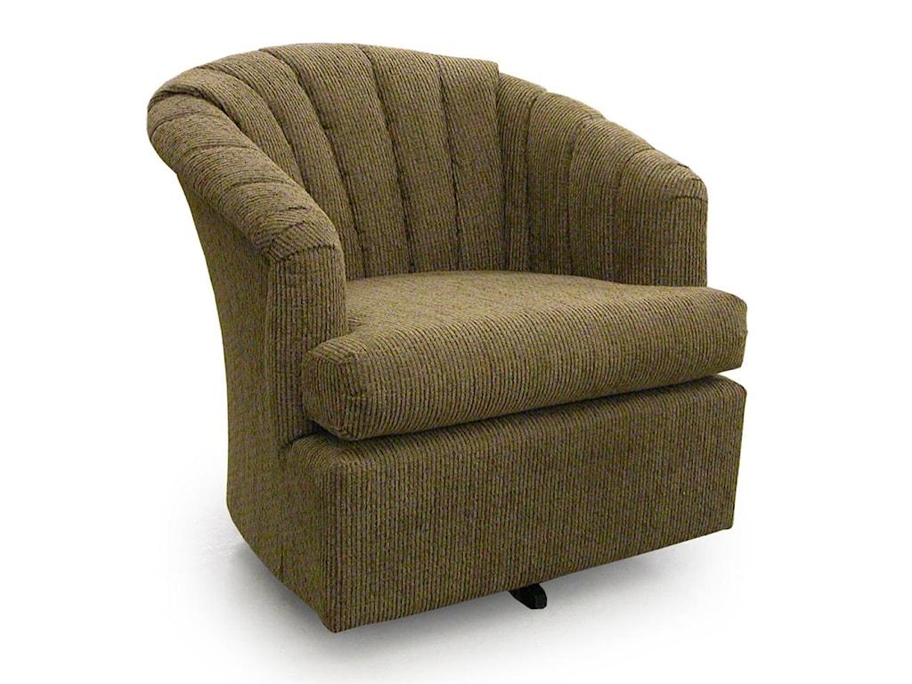 Best Home Furnishings Chairs - Swivel BarrelElaine Swivel Barrel Chair