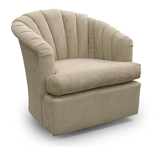 Best Home Furnishings Chairs - Swivel Barrel Elaine Swivel Barrel Chair