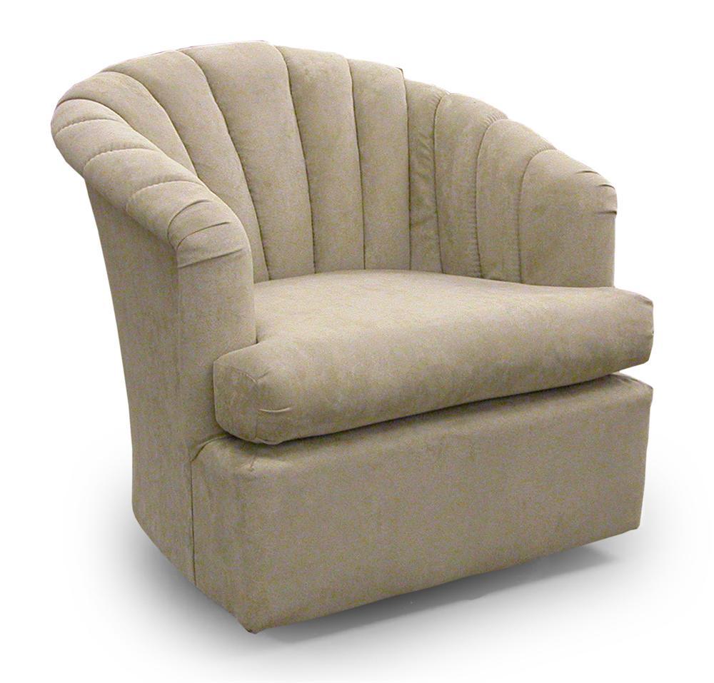 Best Home Furnishings Chairs   Swivel Barrel Elaine Swivel Barrel Chair