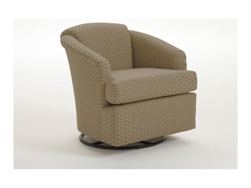 Best Home Furnishings Chairs - Swivel BarrelCass Swivel Barrel Chair