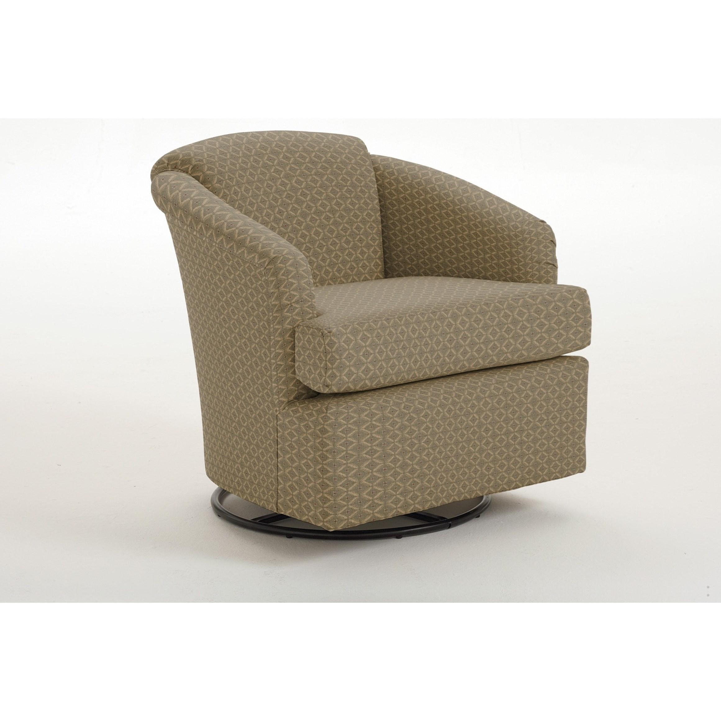 Beau Best Home Furnishings Chairs   Swivel BarrelCass Swivel Barrel Chair