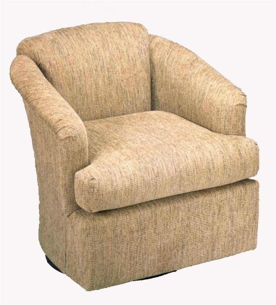 Best Home Furnishings Chairs   Swivel BarrelCass Swivel Barrel Chair