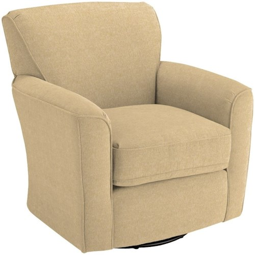 Best Home Furnishings Chairs - Swivel Barrel Kaylee Swivel Barrel Chair