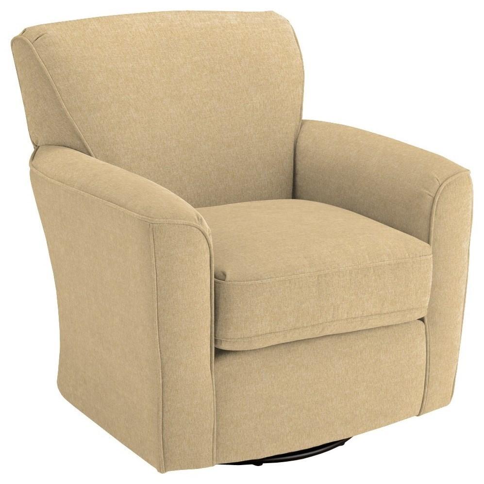 Best Home Furnishings Chairs   Swivel BarrelKaylee Swivel Barrel Chair