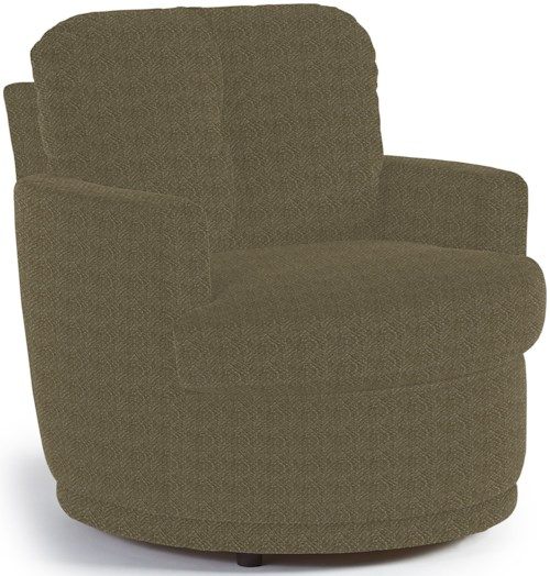Best Home Furnishings Chairs - Swivel Barrel Skipper Swivel Chair with Plush Tufted Back