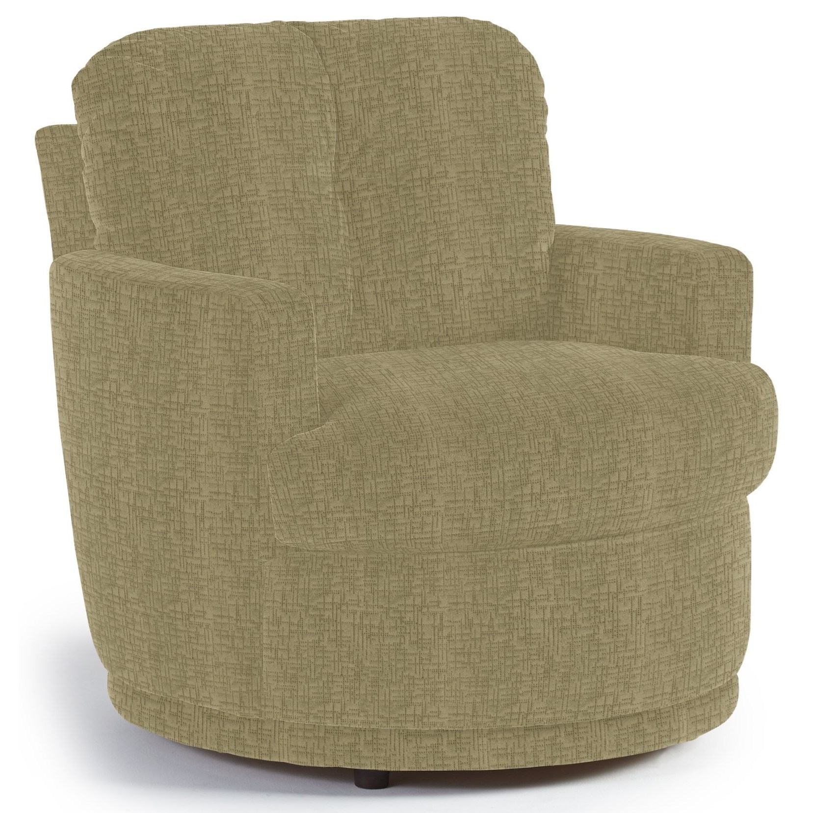 Chairs   Swivel Barrel Skipper Swivel Chair With Plush Tufted Back By Best  Home Furnishings