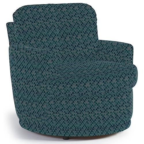 Best Home Furnishings Chairs - Swivel Barrel Skipper Swivel Chair with Plush Tufted Back