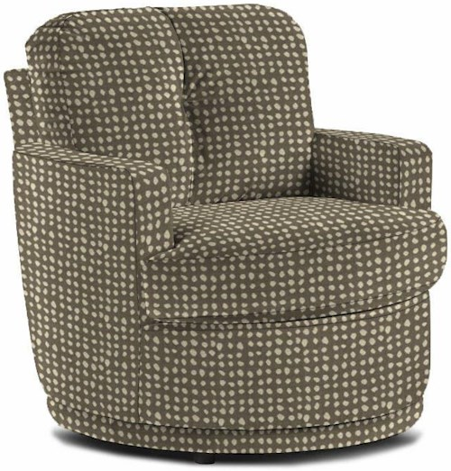 Best Home Furnishings Chairs Swivel Barrel Pewter Chair