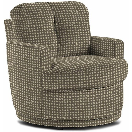 Best Home Furnishings Chairs - Swivel Barrel Pewter Chair