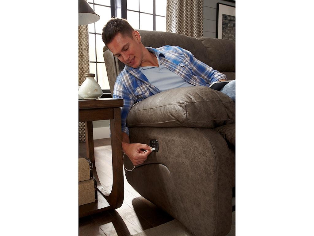 Best Home Furnishings TelvaPwr Tilt Headrest Wall Saver Recliner