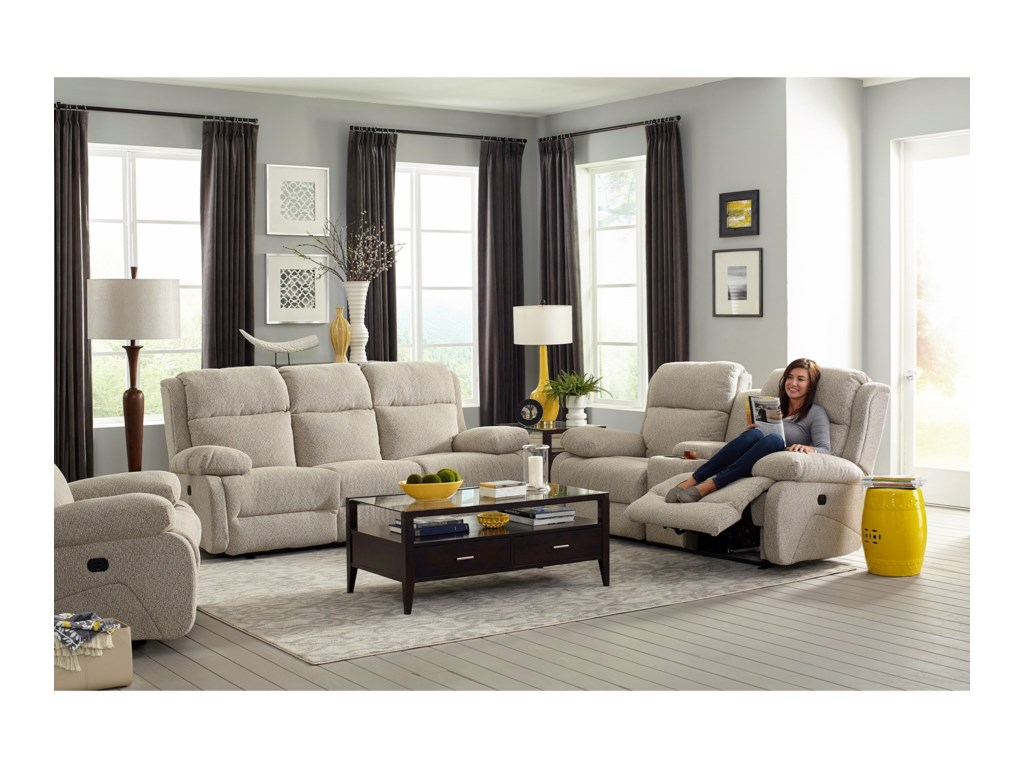 Best Home Furnishings TelvaPwr Head Wall Sav Console Reclining Loveseat