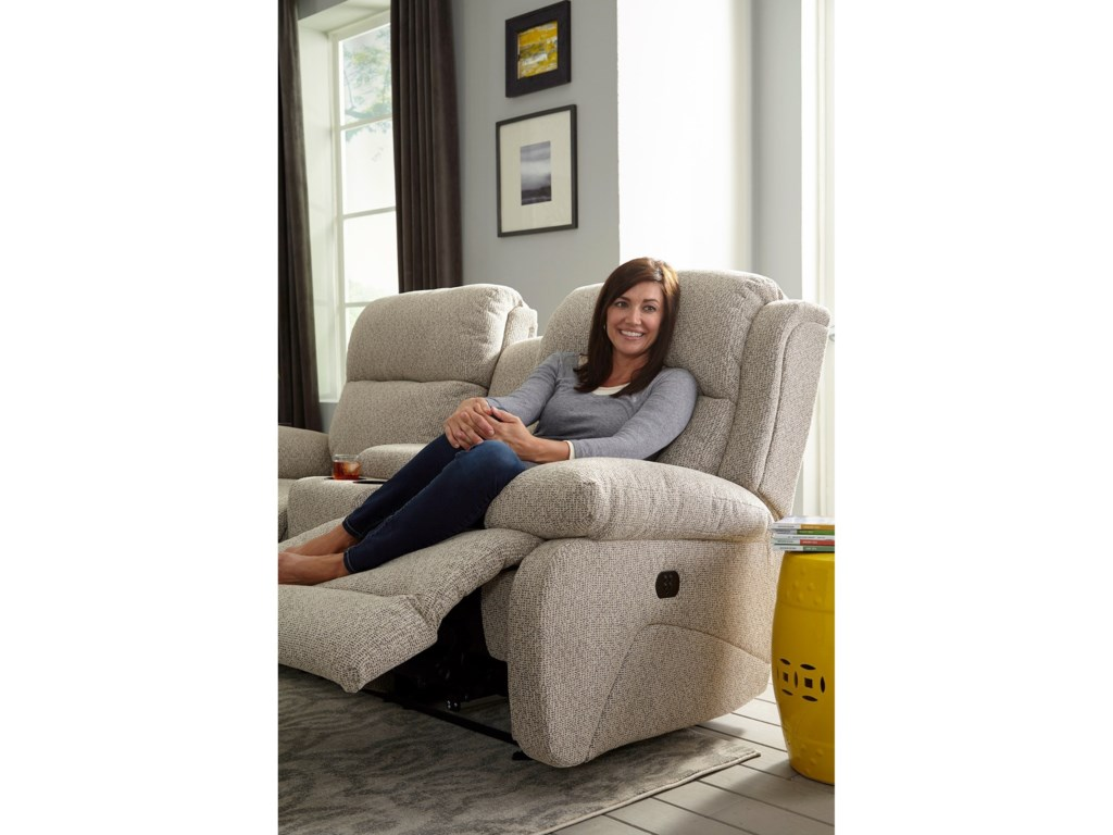 Best Home Furnishings TelvaPwr Head Rocking Console Reclining Loveseat
