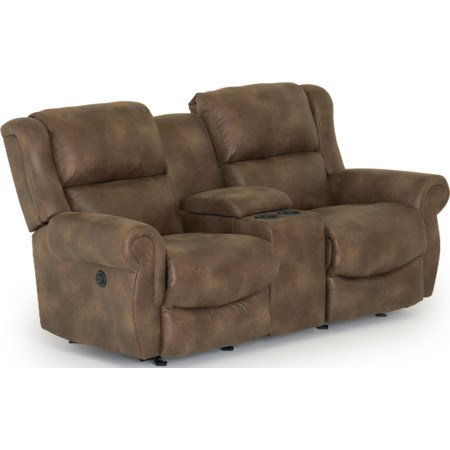 Power Space Saver Reclining Loveseat w/ Con.
