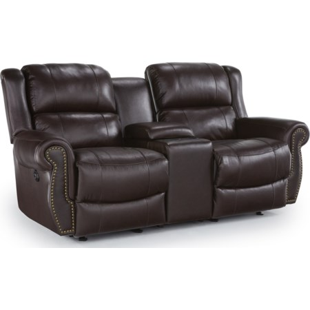 Space Saver Reclining Loveseat w/ Console
