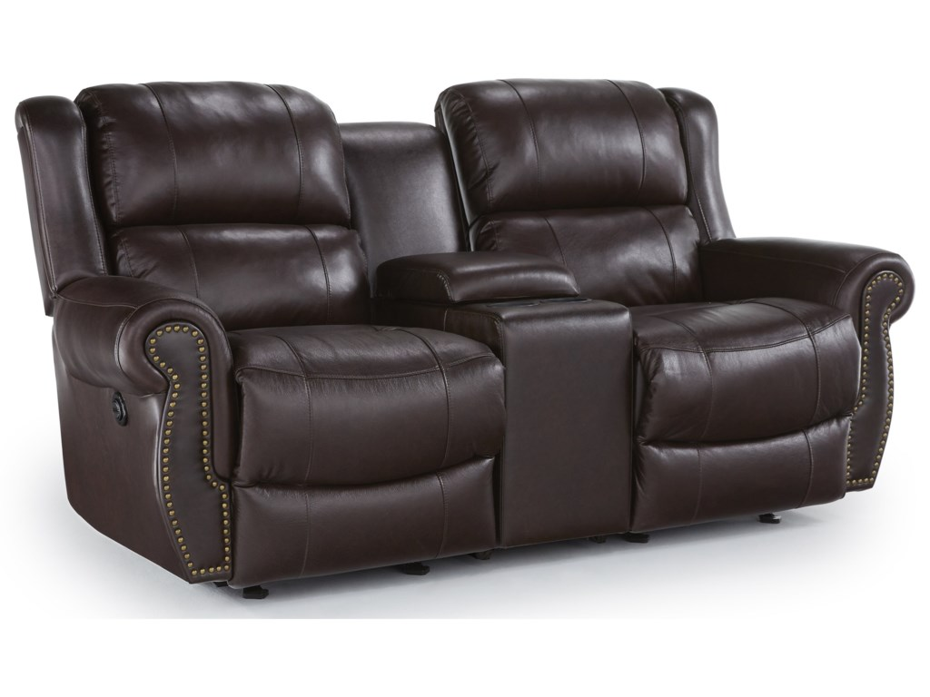 Best Home Furnishings TerrillSpace Saver Reclining Loveseat w/ Console