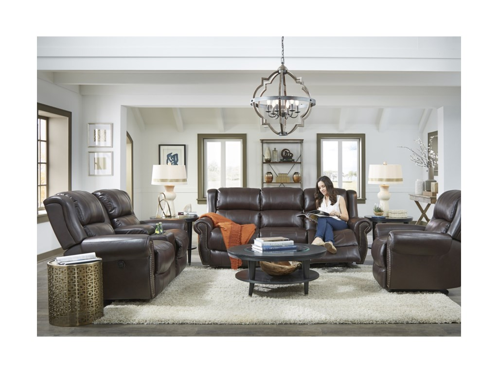 Best Home Furnishings TerrillRocker Reclining Loveseat w/ Console