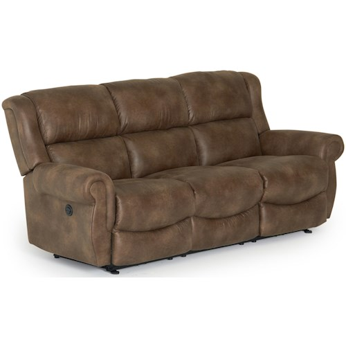 Best Home Furnishings Terrill Transitional Power Space Saver Reclining Sofa