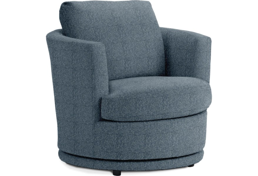 Best Home Furnishings Kyle Mid Century Modern Swivel Barrel Chair Crowley Furniture Mattress Upholstered Chairs