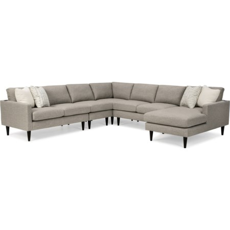 6-Seat Sectional Sofa w/ RAF Chaise