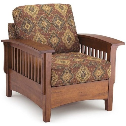 Best Home Furnishings Westney Upholstered Chair with Wood Frame