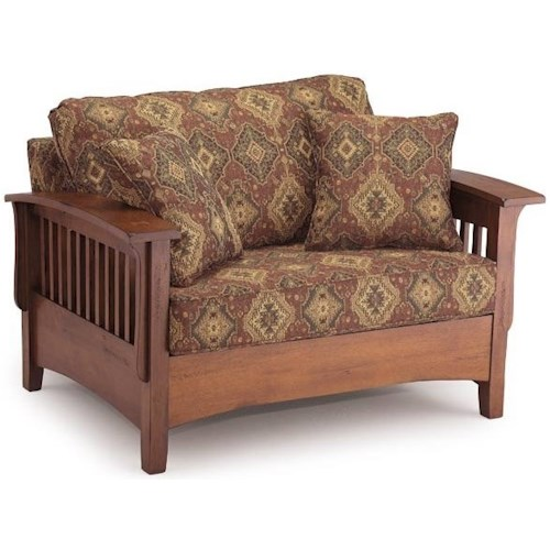Best Home Furnishings Westney Upholstered Chair and a Half with Twin Sleeper