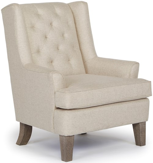 Best Home Furnishings Chairs - Wing Back Rebecca Wing Chair with Tufted Back