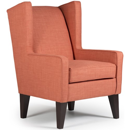 Best Home Furnishings Wing Chairs Karla Modern Wing Chair
