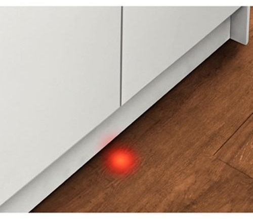InfoLight® Beams on Floor to Indicate Dishwasher is Running