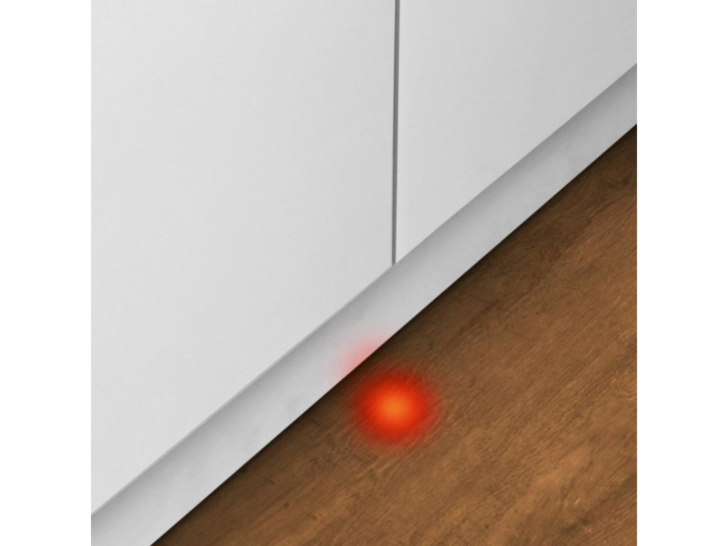 InfoLight Beams on Floor to Indicate Dishwasher is Running