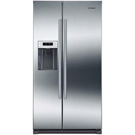 """36"""" Side-by-side fridge-freezer"""